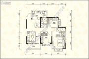 恒大名城3室2厅2卫107平方米户型图