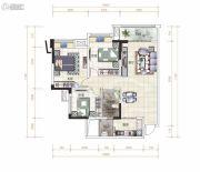 金湾国际・特色农产品交易中心3室2厅1卫110平方米户型图