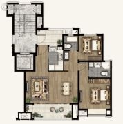 融创海上桃源2室1厅2卫95平方米户型图