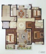 中冶盛世滨江3室2厅2卫140平方米户型图