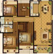 中建・大观天下4室2厅2卫154平方米户型图