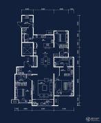 中建・国熙台3室2厅3卫165平方米户型图