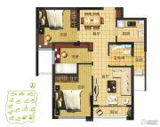 京联观湖3室2厅1卫80平方米户型图