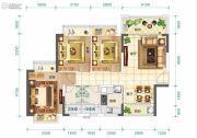 东莞恒大翡翠华庭3室2厅2卫0平方米户型图