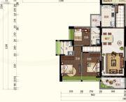 君华・禧悦台3室2厅2卫109平方米户型图