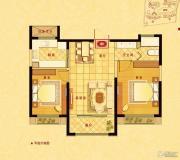 中南世纪花城2室2厅1卫88平方米户型图