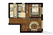 中海学府公馆1室1厅1卫53平方米户型图