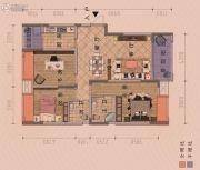朋鹰・莱茵小镇3室2厅2卫123平方米户型图