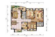 时代御京新城3室2厅2卫125平方米户型图