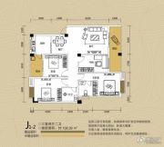 江都栋缤3室2厅2卫108平方米户型图