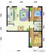 天庆国际新城2室2厅1卫96平方米户型图
