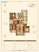 金地悦峰3室2厅2卫147平方米户型图