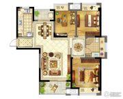 苏宁天御广场3室2厅1卫112平方米户型图
