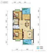 春江・帝景湾3室2厅1卫95平方米户型图