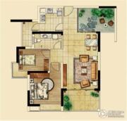 海客瀛洲2室2厅1卫99平方米户型图