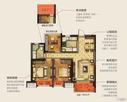 华润幸福里3室2厅1卫89平方米户型图