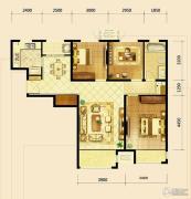 鸿坤・曦望山3室2厅1卫114平方米户型图