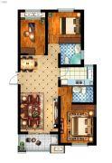 丽景湾华庭3室2厅2卫115平方米户型图