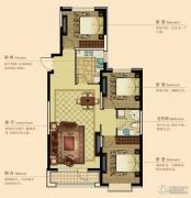 澳海澜庭3室2厅1卫110平方米户型图