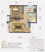保利・茉莉公馆1室1厅1卫50平方米户型图