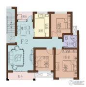 海月名都3室2厅1卫84平方米户型图