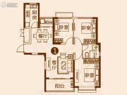 恒大金碧新城3室2厅1卫119平方米户型图