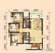 汉成天地3室2厅1卫107平方米户型图