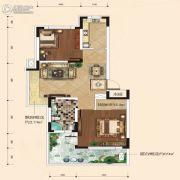 融城7英里2室2厅1卫68平方米户型图