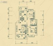 华瑞园2室2厅1卫74平方米户型图