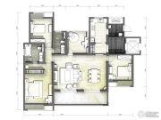 富力十号4室2厅2卫156平方米户型图