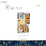 水韵绿城3室2厅2卫135平方米户型图