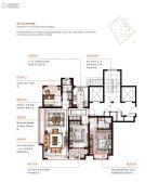 维科望江府3室2厅2卫116平方米户型图