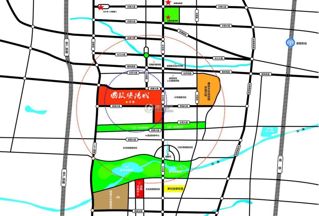 国旅安阳城交通图