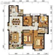 中海左岸岚庭4室2厅2卫125平方米户型图