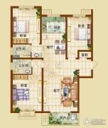 龙华苑3室2厅2卫0平方米户型图