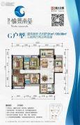 珠江・愉景南苑3室2厅2卫0平方米户型图