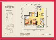 领地・海纳君庭3室2厅2卫89平方米户型图