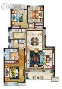 中梁香缇公馆3室2厅2卫113平方米户型图