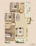 皓顺・华悦城3室2厅2卫136平方米户型图