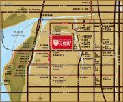 蓝光天悦城交通图