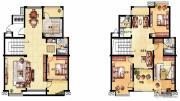 凤凰花园4室4厅3卫230平方米户型图