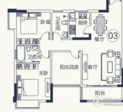 怡泰雅苑3室2厅2卫85平方米户型图