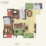 世茂茂悦府2室2厅2卫81平方米户型图