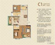 映象西班牙3室2厅2卫136平方米户型图
