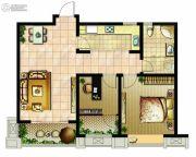 嘉盛维纳阳光1室2厅1卫89平方米户型图