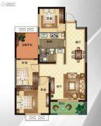 华明星海湾3室2厅1卫97平方米户型图