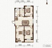 益和国际城3室2厅1卫91平方米户型图