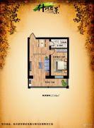 什河丽景1室1厅1卫37平方米户型图