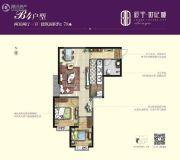 辰宇世纪城2室2厅1卫78平方米户型图