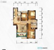 奥克斯缔壹城3室2厅2卫133平方米户型图